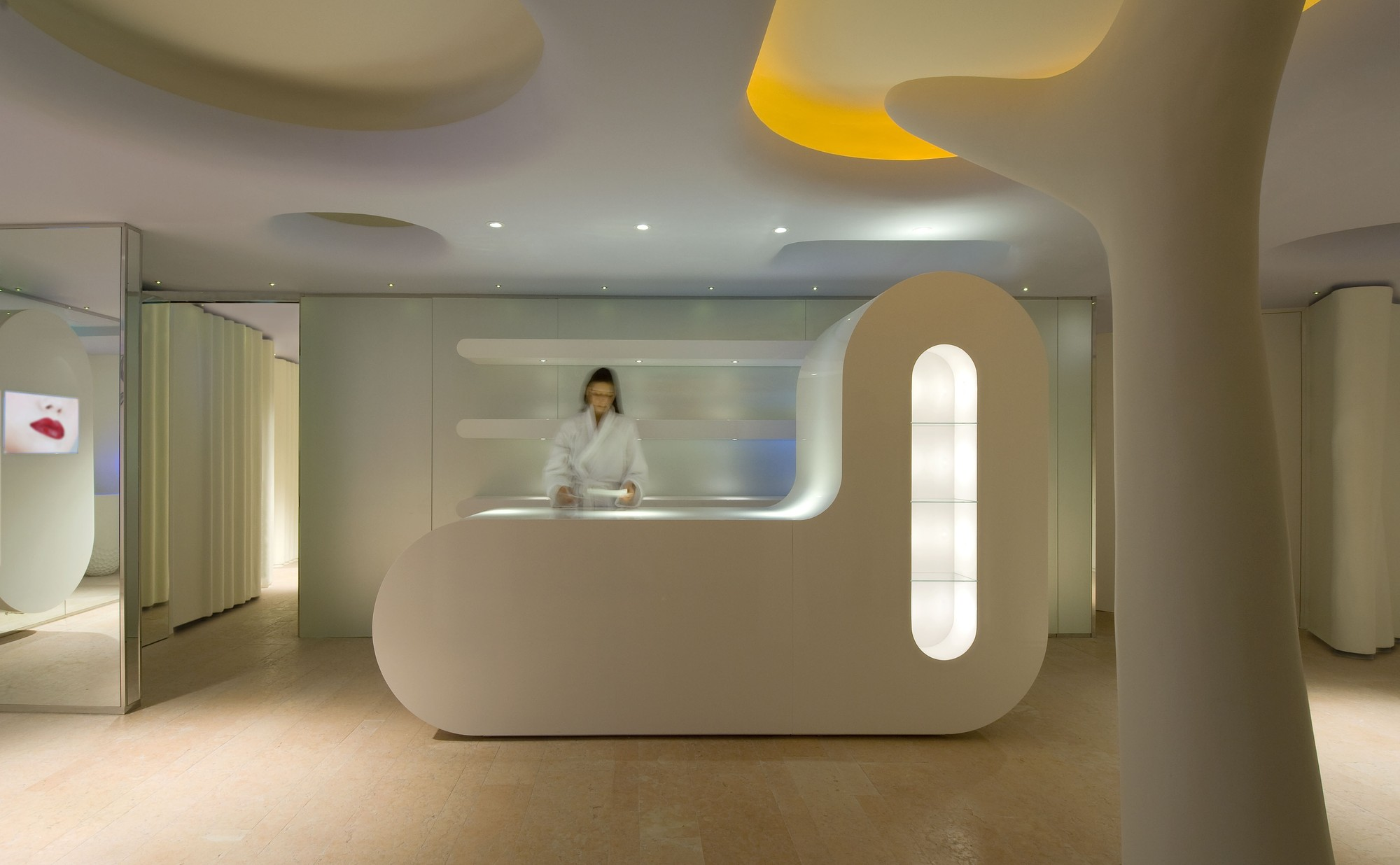 Gallery of exedra nice hotel spa simone micheli 13 for Best spa interior designs