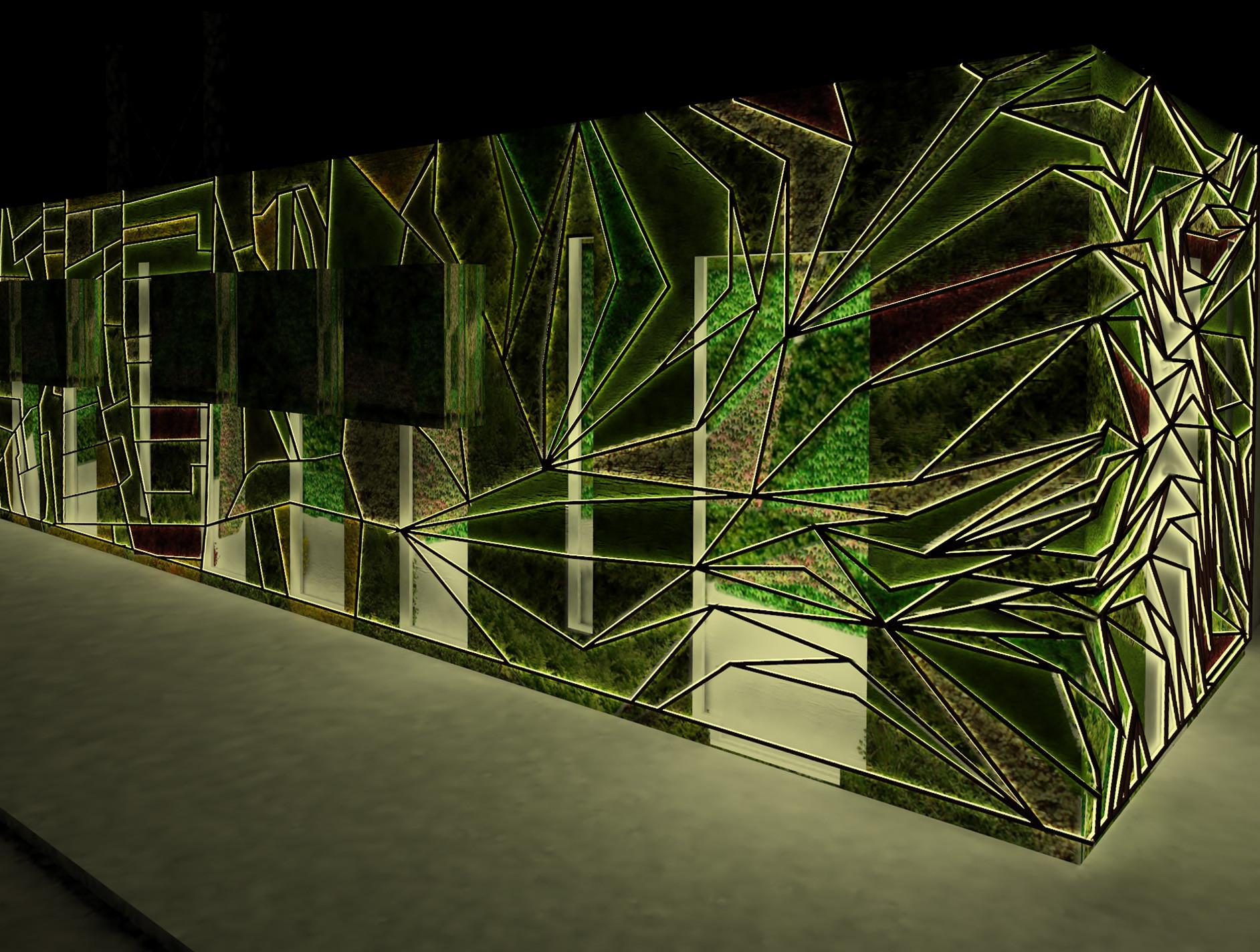 Galer a de arquitectura y paisaje jard n vertical del for Tipos de muros verdes