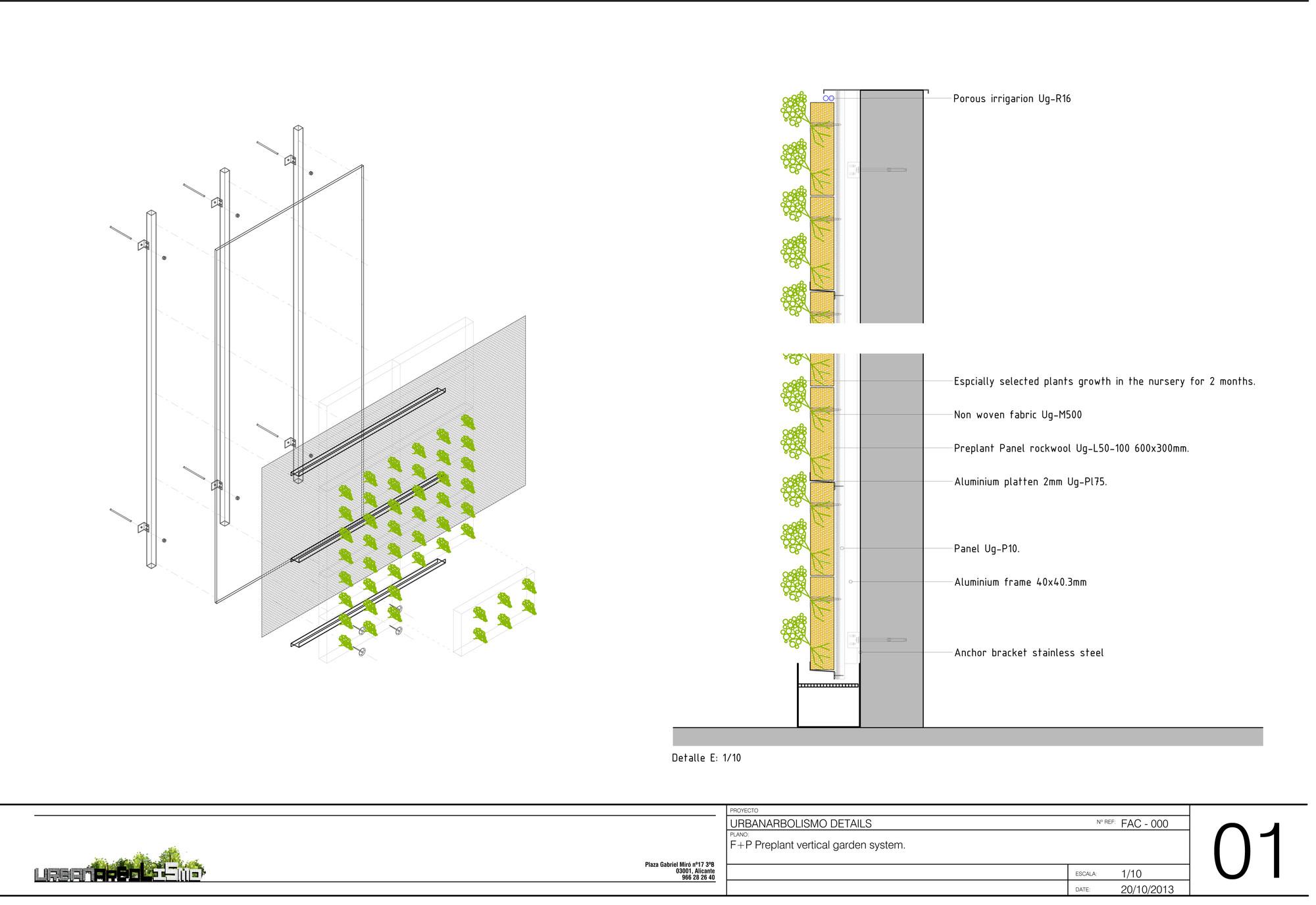 Arquitectura y paisaje jard n vertical del palacio de for Sistema de riego jardin vertical