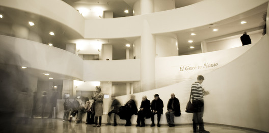 The inside of the New York Guggenheim Museum. Image © Flickr CC User Fernando Carrasco