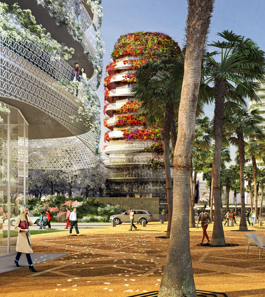 "Edouard François Designs Mixed-Use ""Gardens of Anfa"" for Casablanca, © Maison Edouard François"
