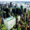 Bird's-eye view of Midtown Manhattan's neighborhood food hubs in New York City (Steady) State. Image Courtesy of Terreform