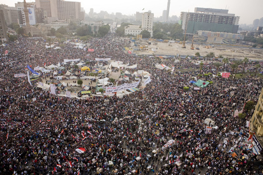 Tahrir Square during the Egyptian revolution of 2011. Image