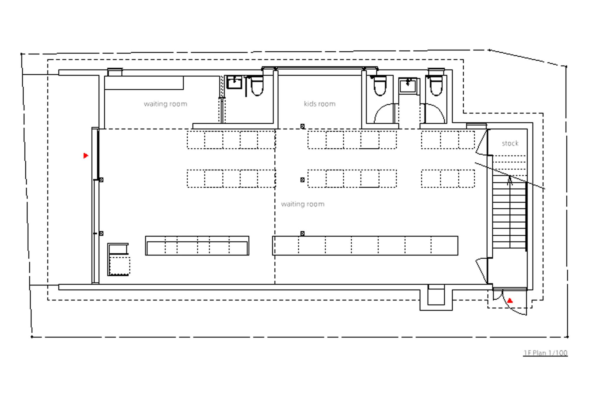Gallery of o dispensing pharmacy ninkipen 13 for Pharmacy floor plan