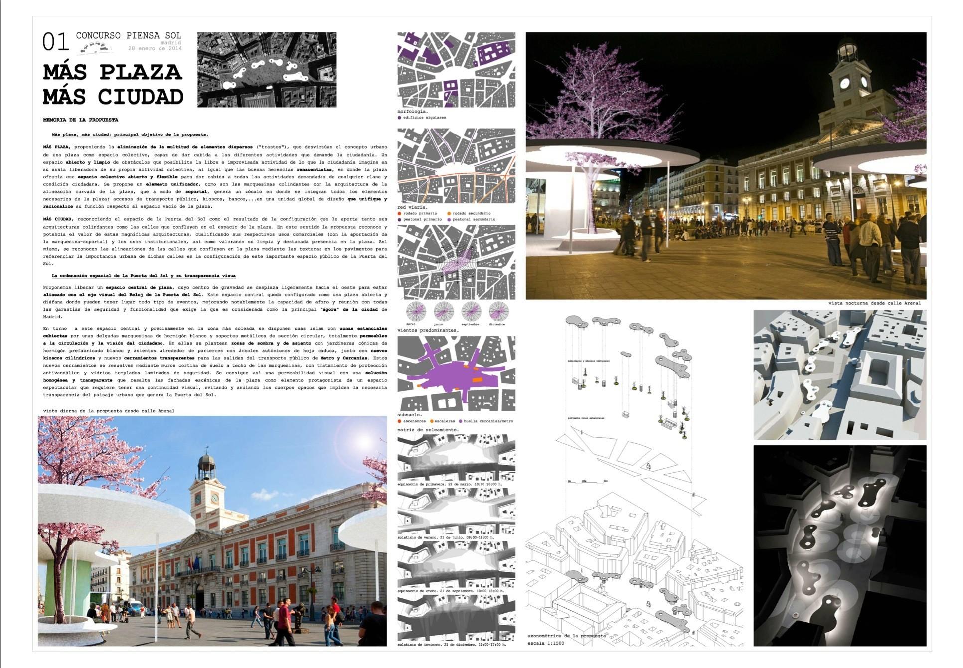 «Más Plaza Más ciudad», José Seguí, Ramon Engel U Alberto Rodriguez Bourgon . Image Courtesy of COAM