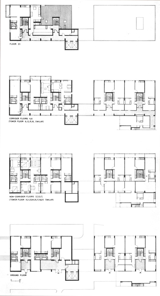 Ad classics peabody terrace sert jackson gourley for Adhouse plans