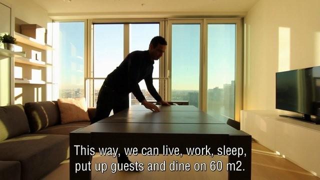 mobiliario jardim jumbo:60 Square Foot Apartment
