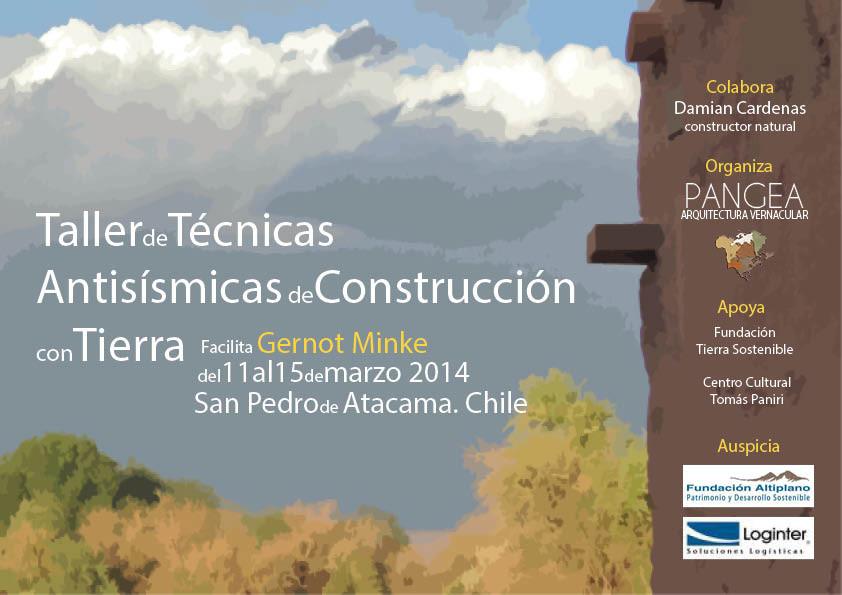 Taller de Técnicas Antisísmicas de Construcción con Tierra, Chile / ¡Participa por una beca!, Courtesy of Corporación Pangea
