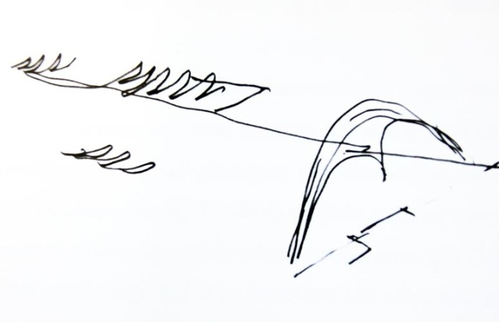 Croquis de Oscar Niemeyer