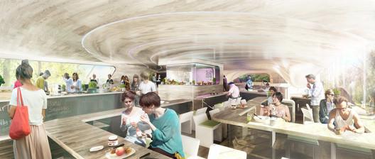 Kitchen. Image Courtesy of GRAFT Architects