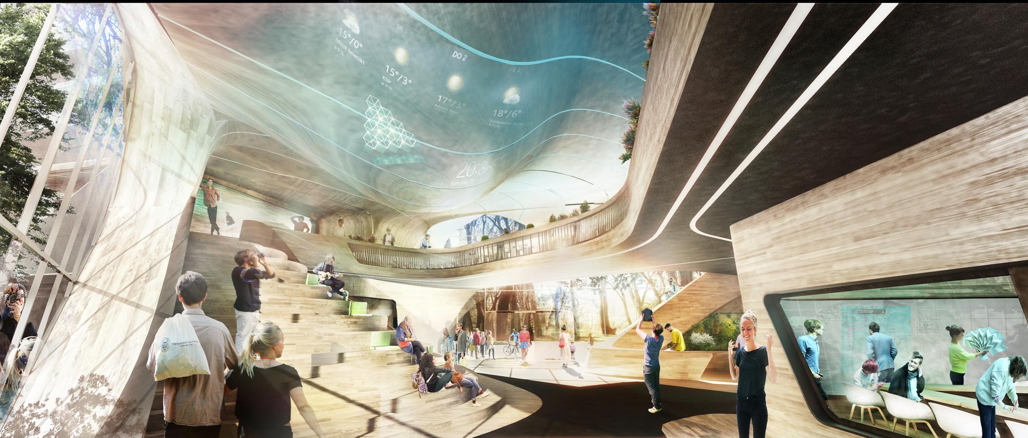 Lobby. Image Courtesy of GRAFT Architects