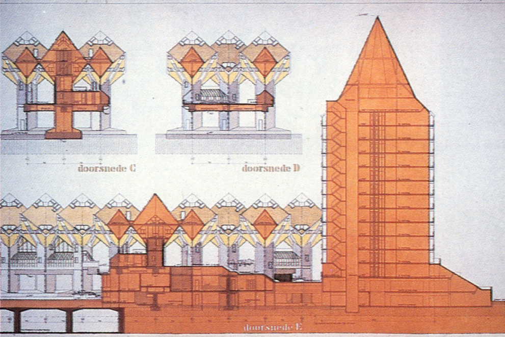 Gallery of ad classics kubuswoningen piet blom 31 for Cube house design layout plan