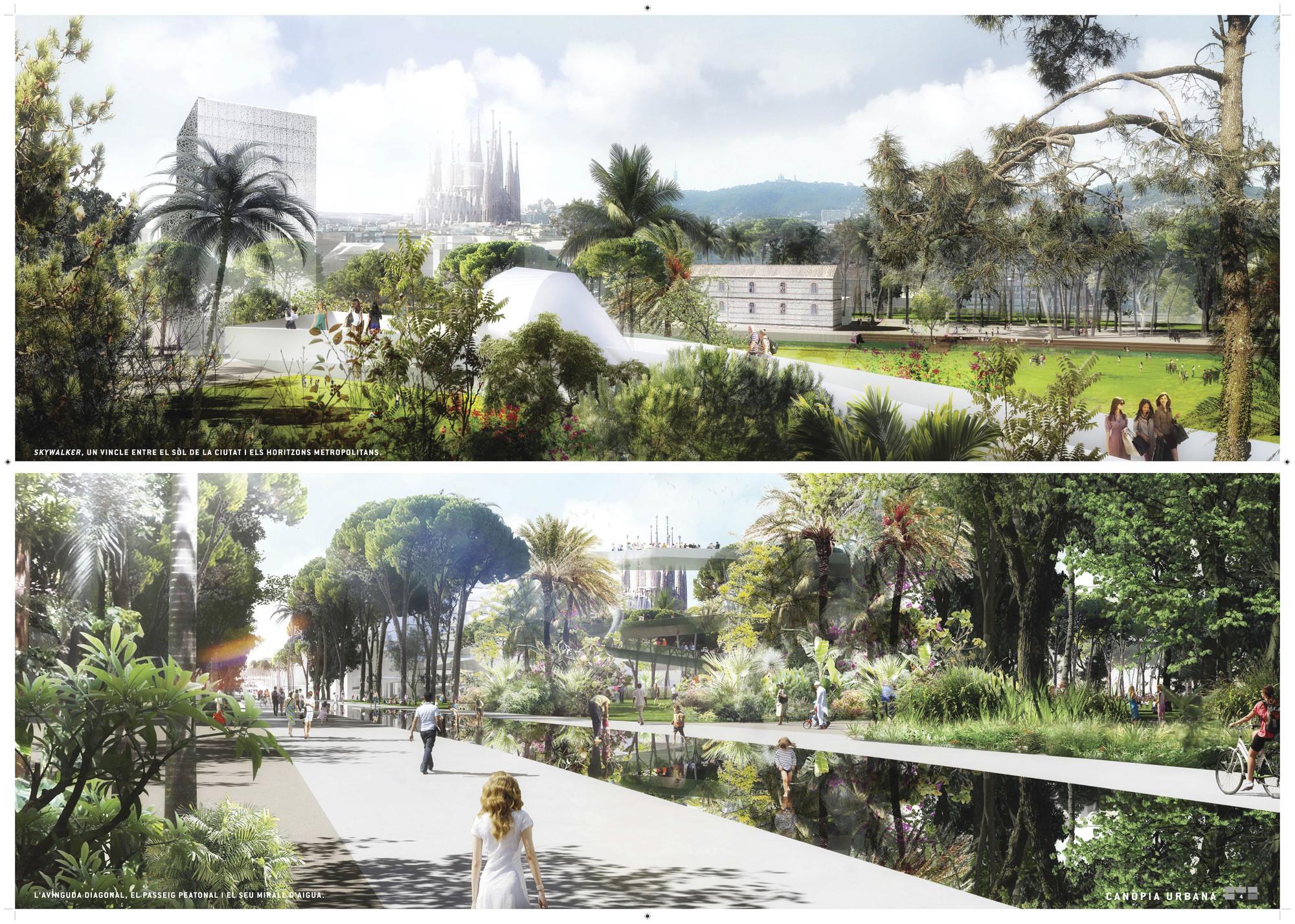 Primer Lugar Concurso Plaza de les Glòries / Barcelona, España., Courtesy of Agence Ter & Ana Coello