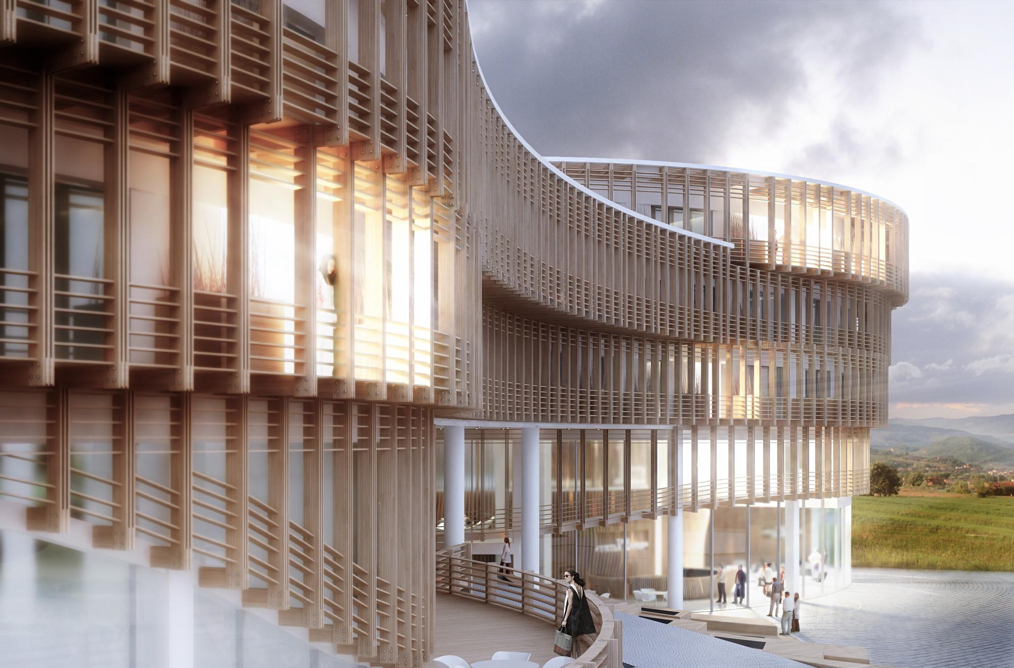 Gallery of graft penda to break ground on myrtle garden for Architecture hotel