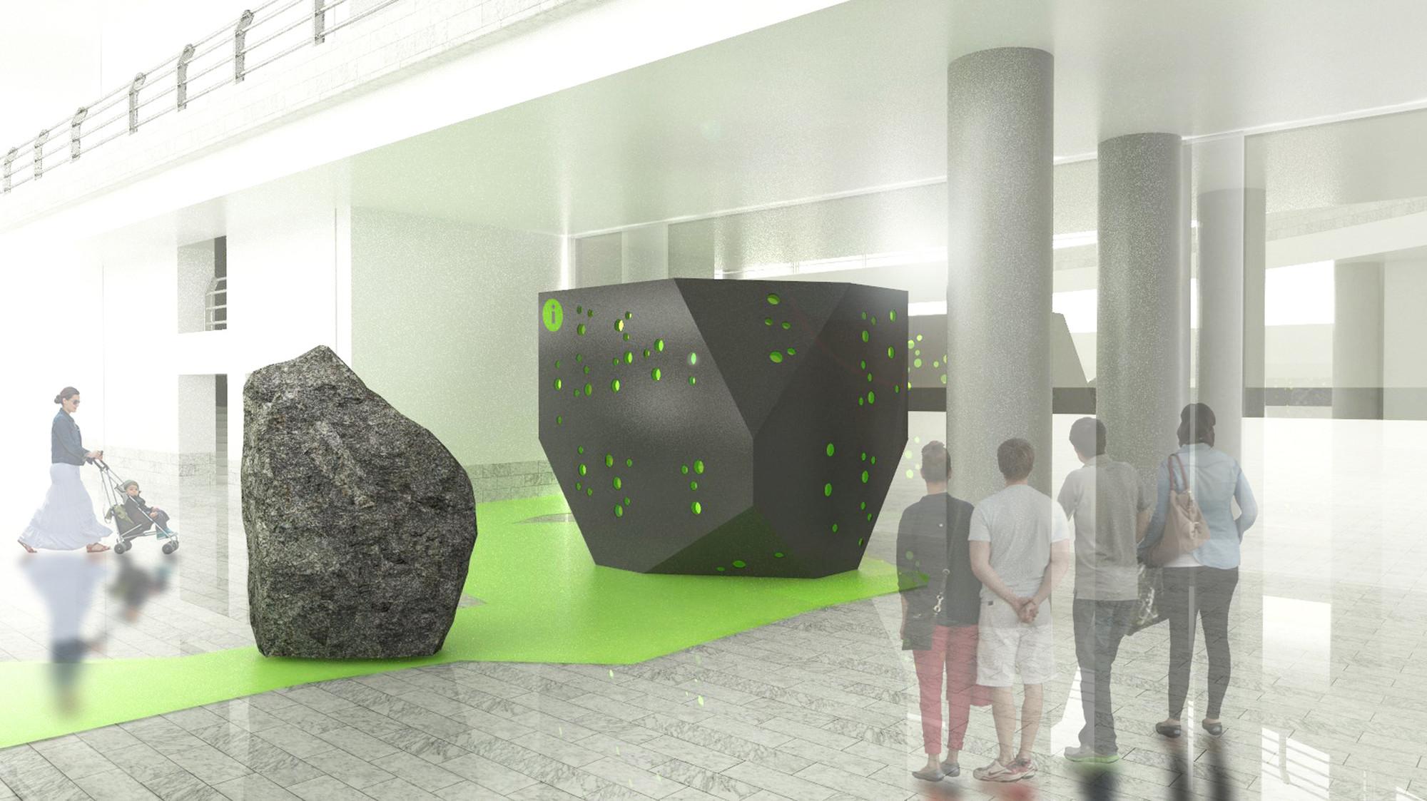 Primer Lugar Concurso del Stand de información del Patronato de Turismo en el Aeropuerto de Lanzarote / España, Courtesy of OOIIO Arquitectura
