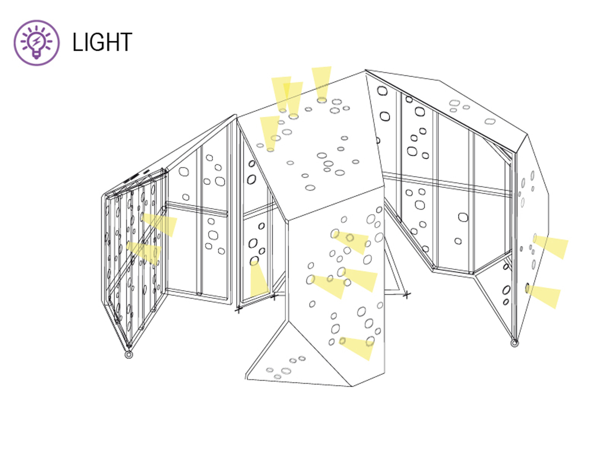 Iluminación. Image Courtesy of OOIIO Arquitectura