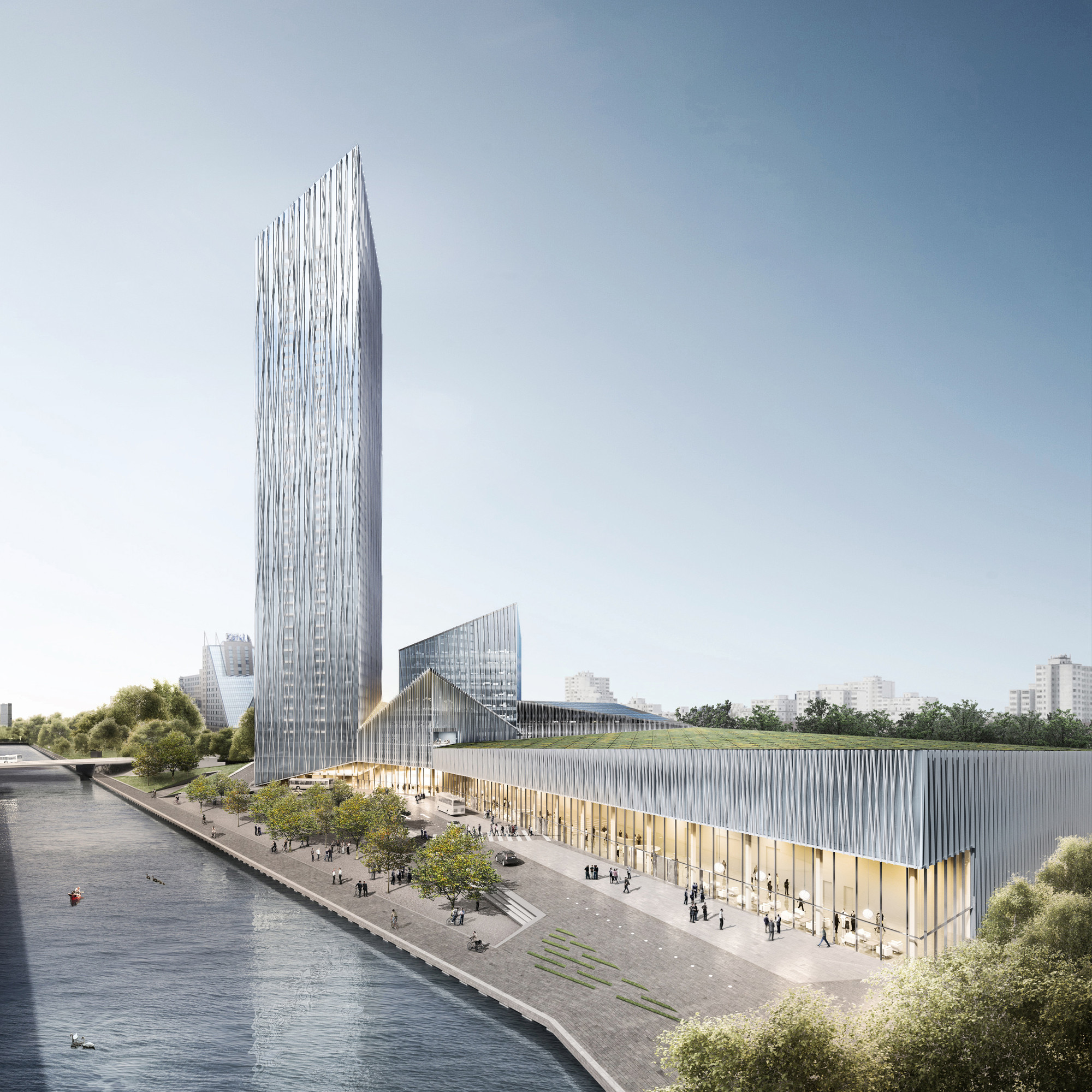 Barkow Leibinger Win Competition For Berlin's Tallest High-Rise, Visualization. Image © Barkow Leibinger / bloomimages