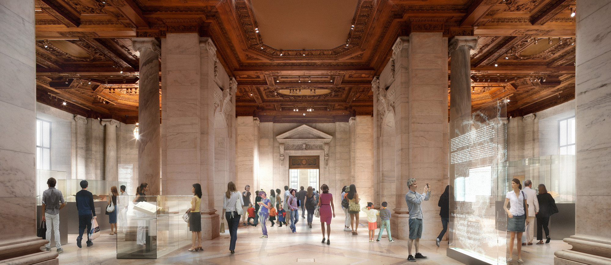 Foster + Partners' New York Public Library Redesign in State of Limbo, © dbox, Courtesy of Foster + Partners