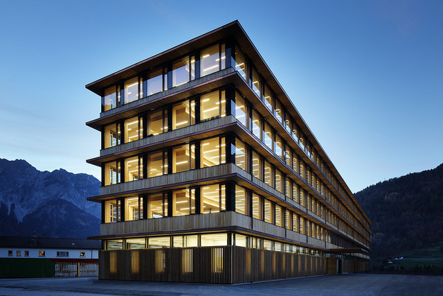 Tall Tinder: Are Wooden Skyscrapers Really Fire Safe?, IZM - Illwerke Zentrum Montafon / Architekten Hermann Kaufmann ZT GmbH. Image © Norman A. Müller
