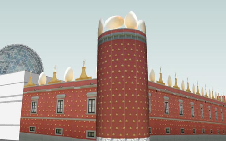 Museu Salvador Dalí / Criado por OnO. Cortesia de Trimble