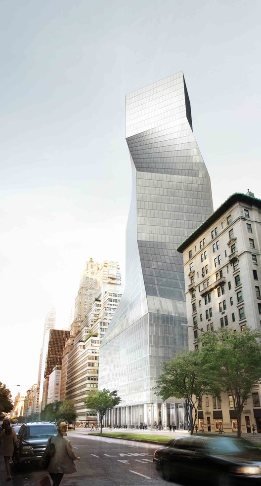Brown is critical of OMA's entry for 425 Park Avenue, believing that the pressure of the competition meant it was lacking in OMA's usual sophistication. Image Courtesy of OMA