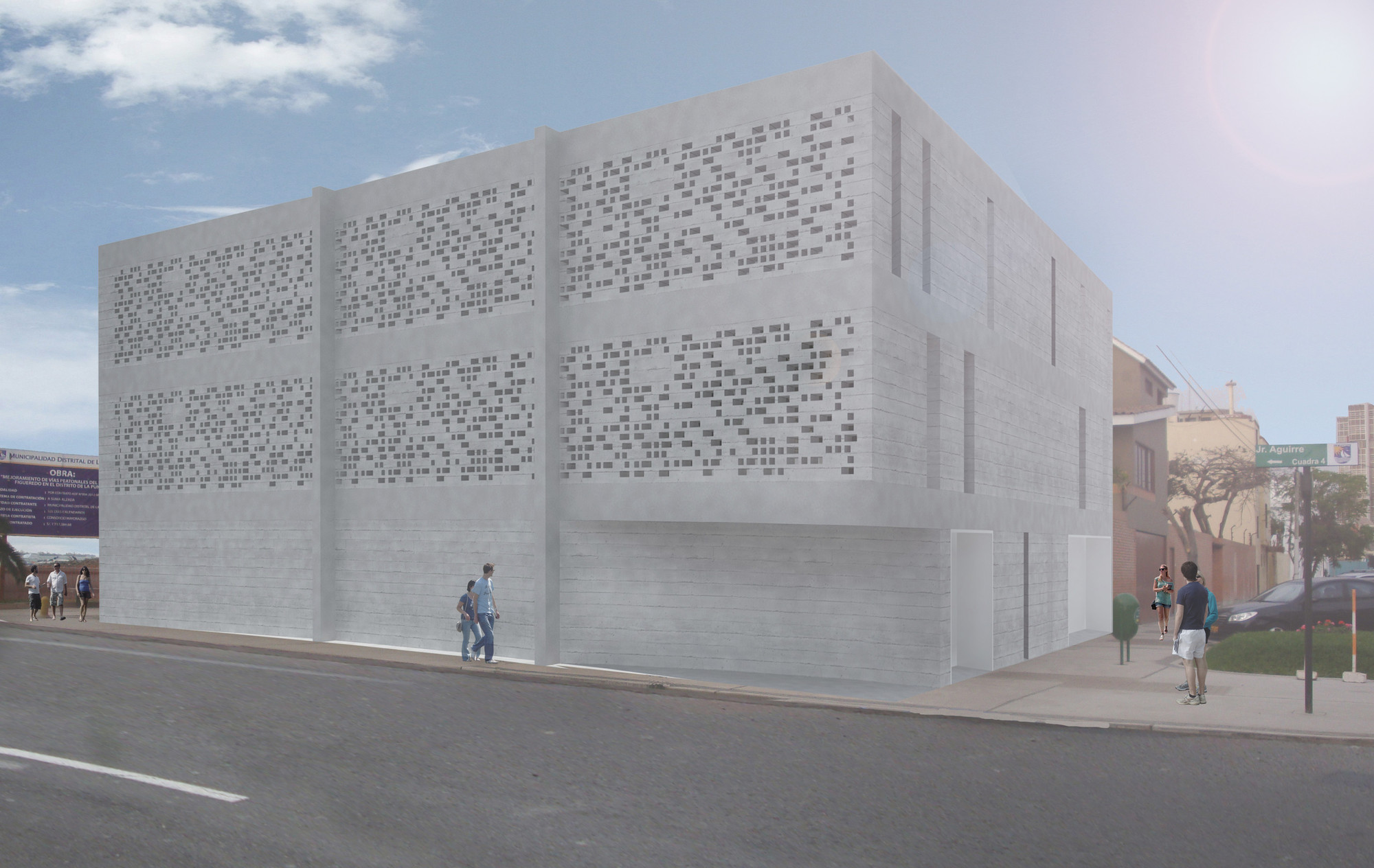 Primer Lugar Concurso de Proyectos Arquitectónicos Para las Regiónes de Lima y Callao, Perú, Imagen Principal. Image Courtesy of Seinfeld Arquitectos