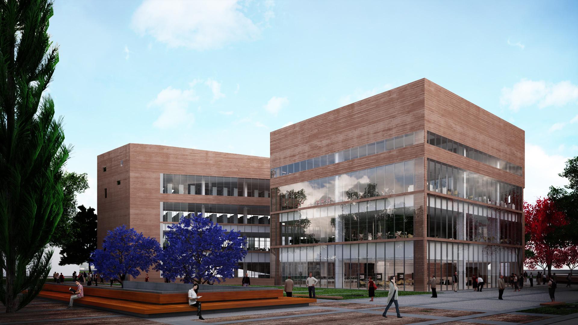 Segundo Lugar Concurso de Proyectos Arquitectónicos Para las Regiones de Lima y Callao, Perú, Biblioteca de Ciencias, Ingenería y Arquitectura PUCP. Image Courtesy of Llosa Cortegana Arquitectos