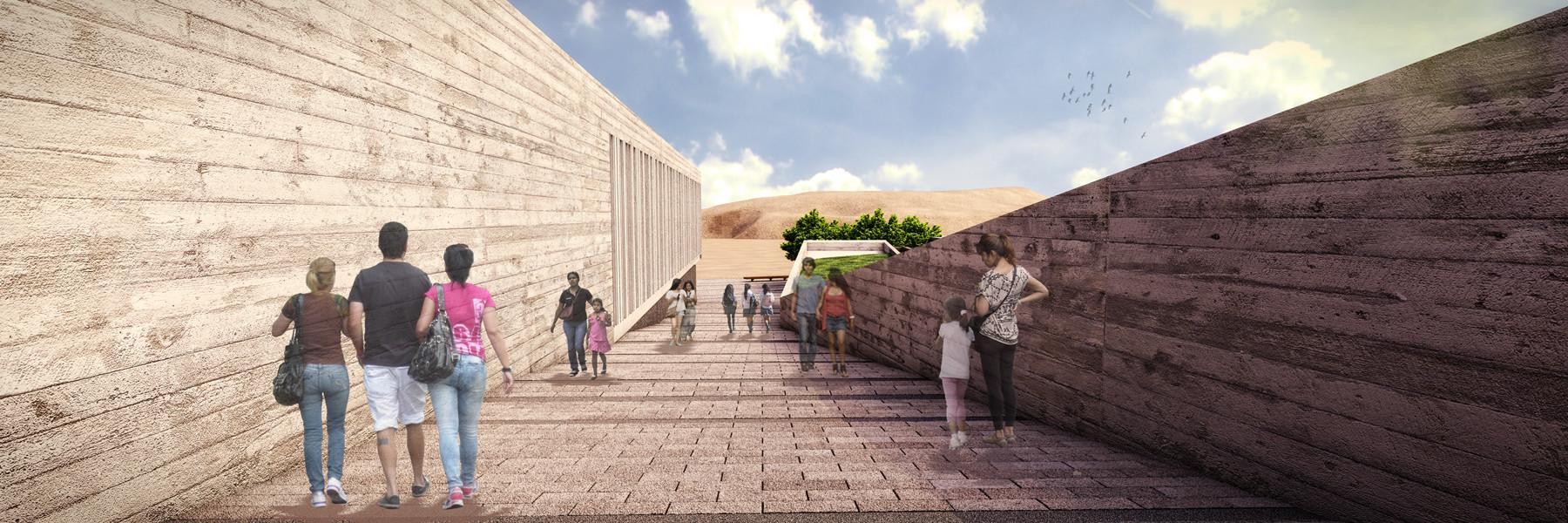 Imagen Rampa / Museo de Pachacamac . Image Courtesy of Llosa Cortegana Arquitectos