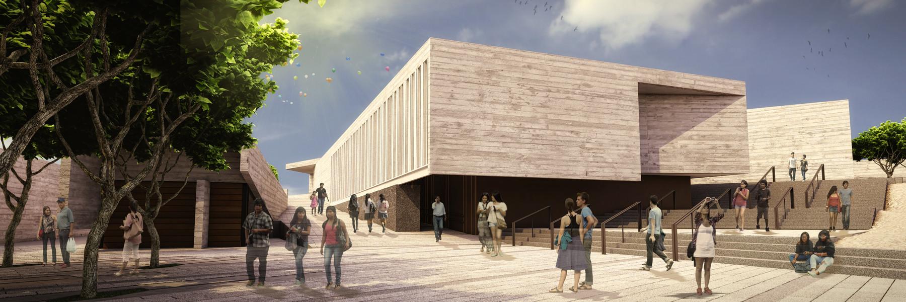 Imagen Plaza / Museo de Pachacamac . Image Courtesy of Llosa Cortegana Arquitectos