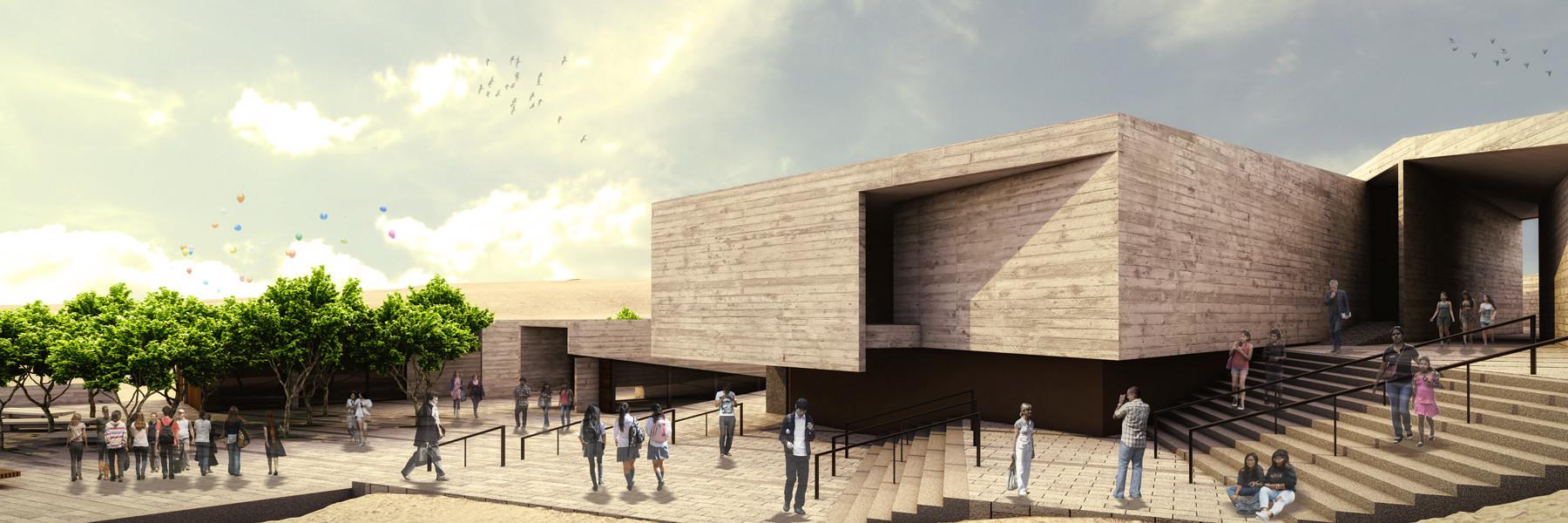 Imagen Escaleras / Museo de Pachacamac . Image Courtesy of Llosa Cortegana Arquitectos