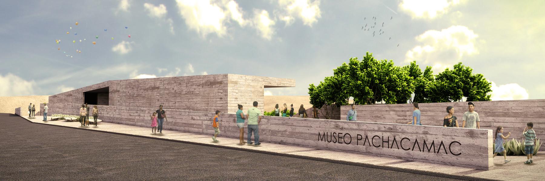 Imagen Ingreso / Museo de Pachacamac . Image Courtesy of Llosa Cortegana Arquitectos