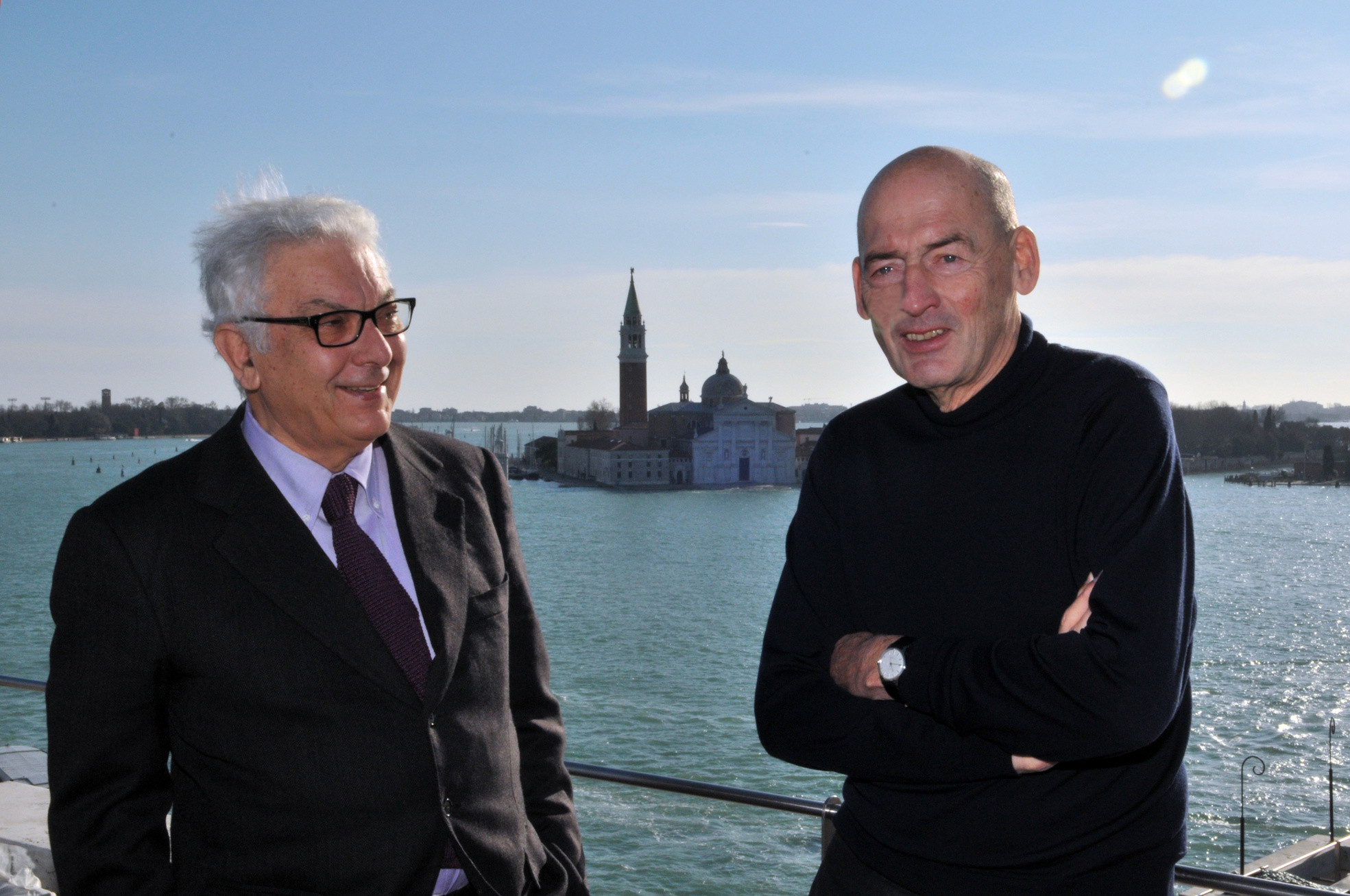 Paolo Baratta, President of la Biennale di Venezia, and Rem Koolhaas, Curator of the 14th International Architecture Exhibition. © Giorgio Zucchiatti. Image Courtesy of la Biennale di Venezia
