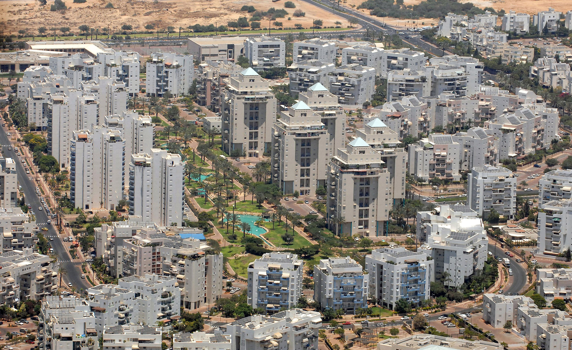 Aerial view of Rishon LeZion. Image by Moshe Millner / GPO
