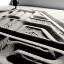 Printing on sand . Image © Edith Kofsky / The Israeli Pavilion 2014