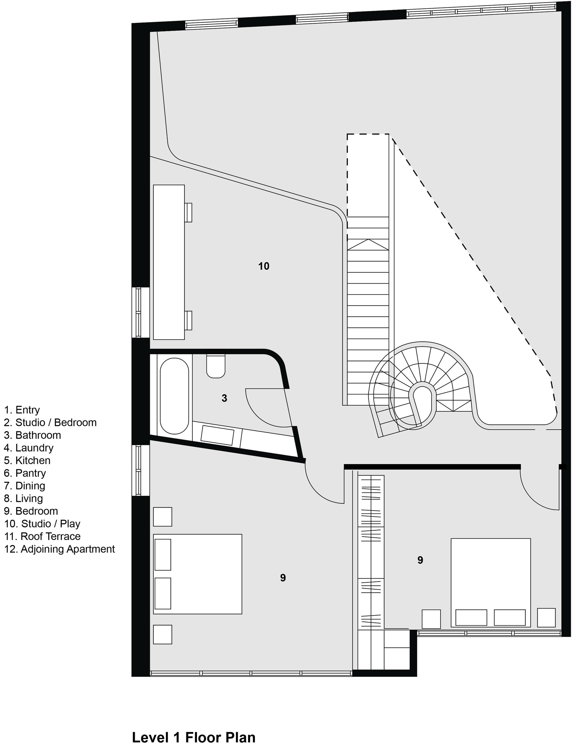 Gallery of loft apartment melbourne adrian amore 16 for Apartment floor plans melbourne