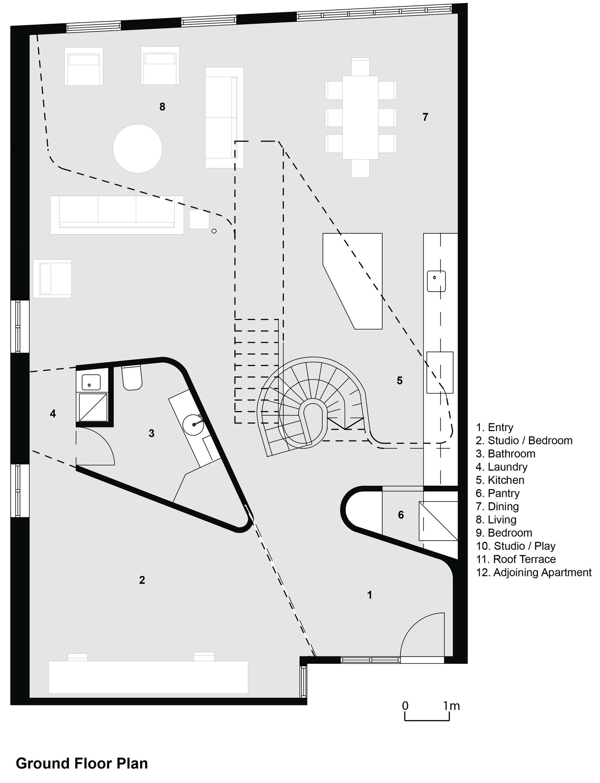 Gallery Of Loft Apartment Melbourne  Adrian Amore - Loft apartment floor plans