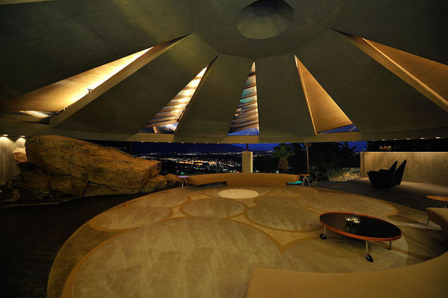 On Designing Evil Lairs, The Elrod House by John Lautner, the murderer's lair in Diamonds are Forever, 1971. Image Courtesy of Expoint Realty