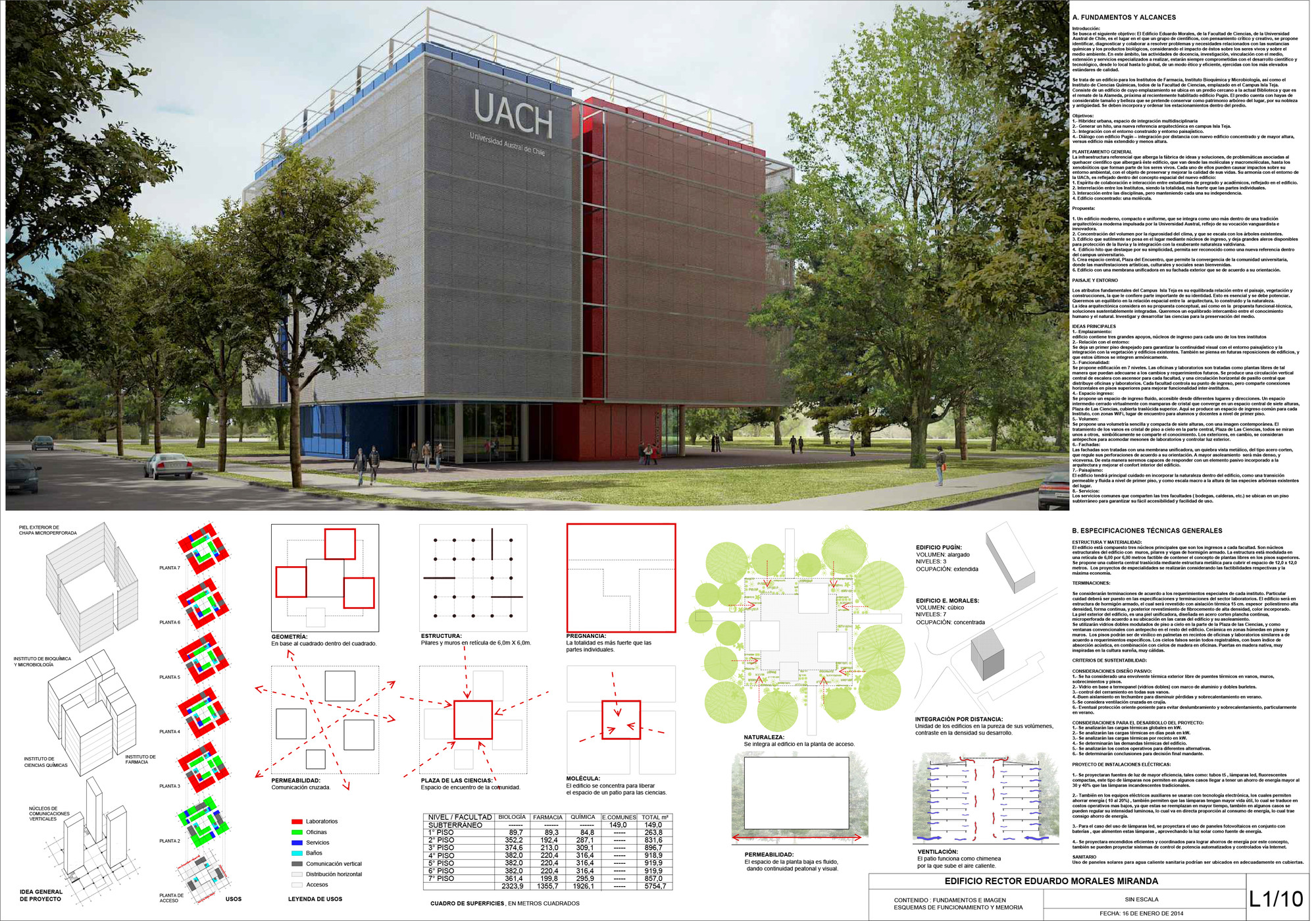 L1 Tercer Lugar Crisosto Smith Arquitectos. Image Courtesy of UACH