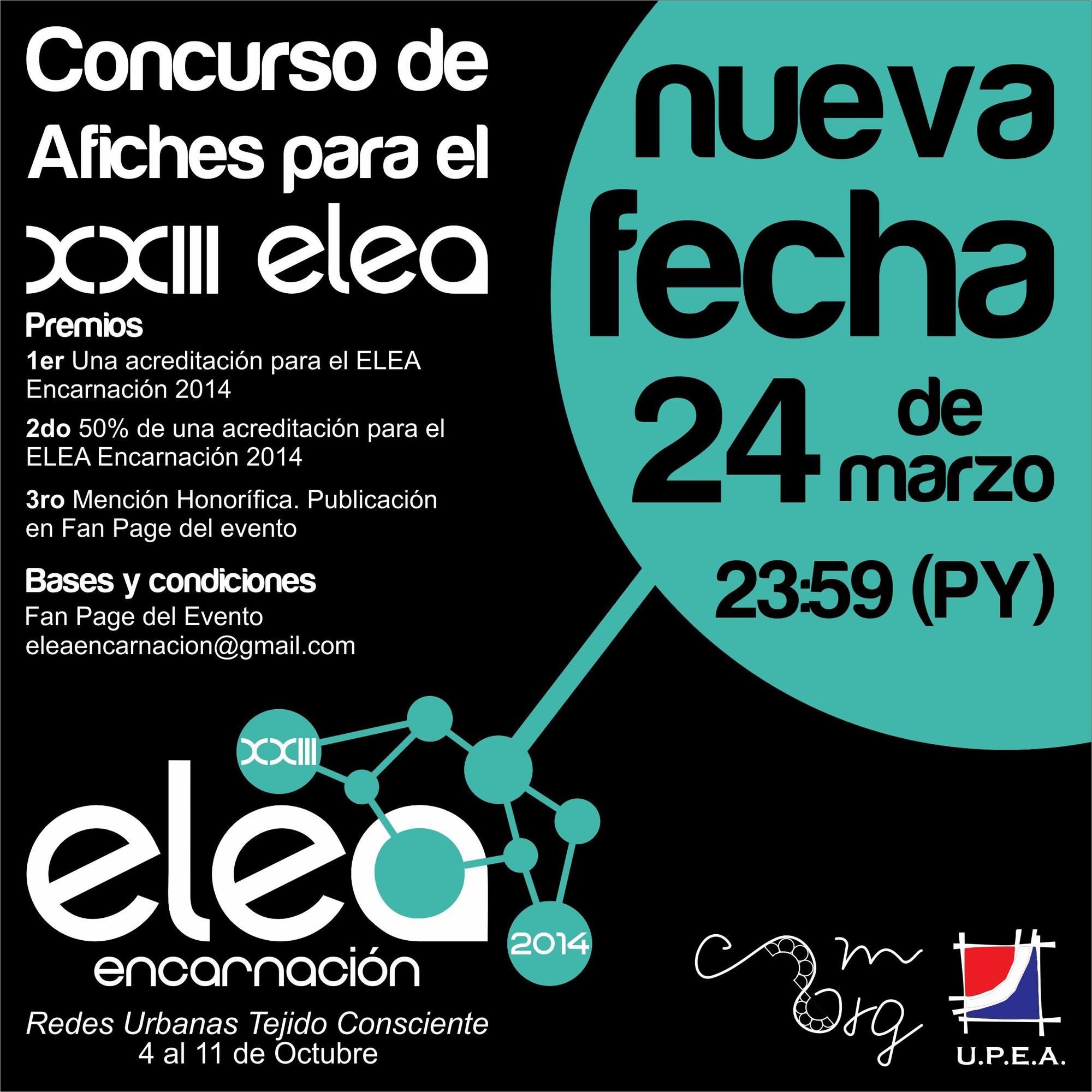 Convocatoria Concurso Creación Afiche XXIII ELEA Encarnación 2014 / Paraguay, Afiche. Image Courtesy of XXIII ELEA Encarnación 2014