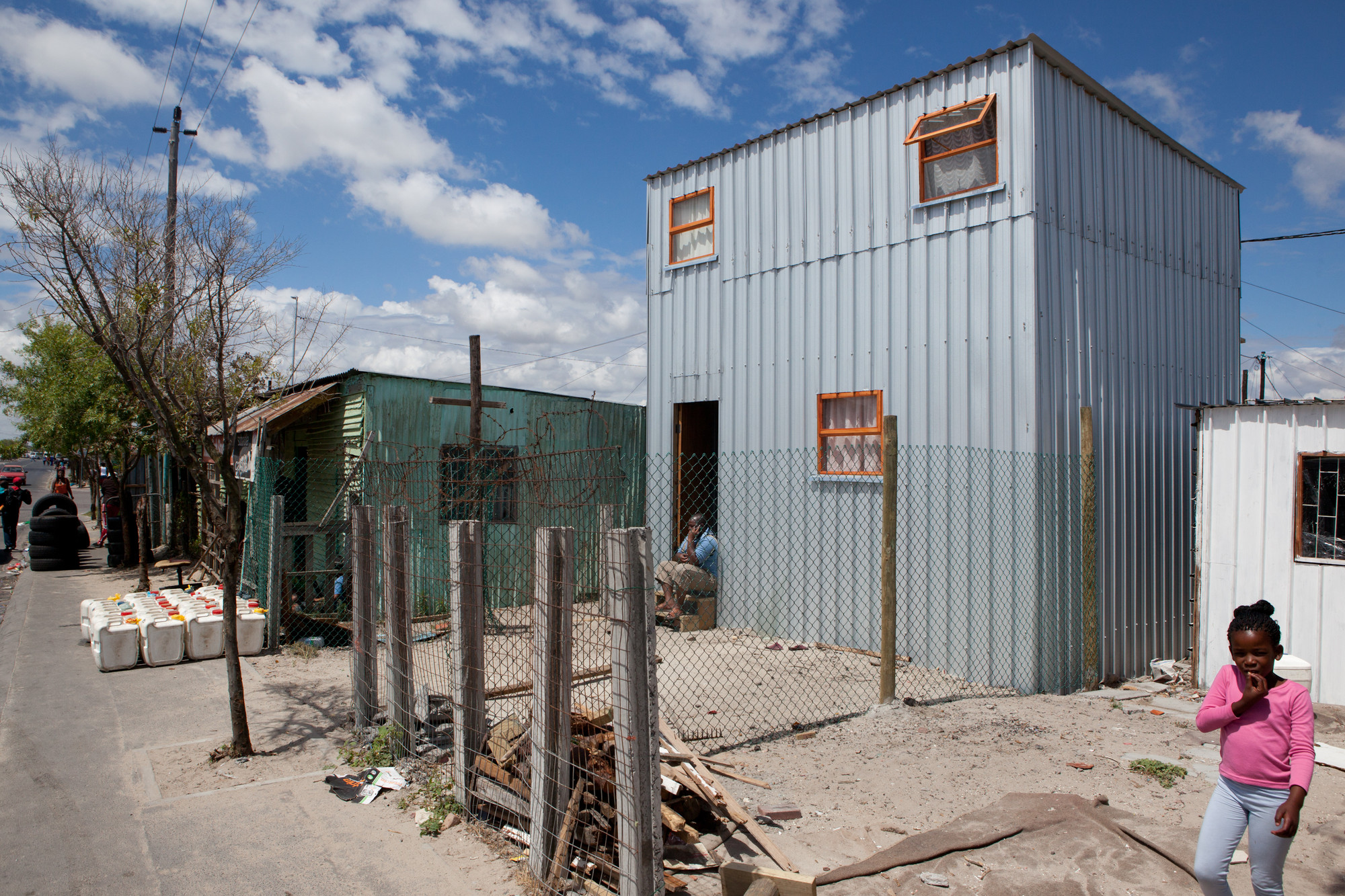 "Urban Think Tank Takes on Housing in South Africa's Townships, ""Prototype 1.2"", the first house built using the ideas developed by the collaboration. Image © ETH Zurich"