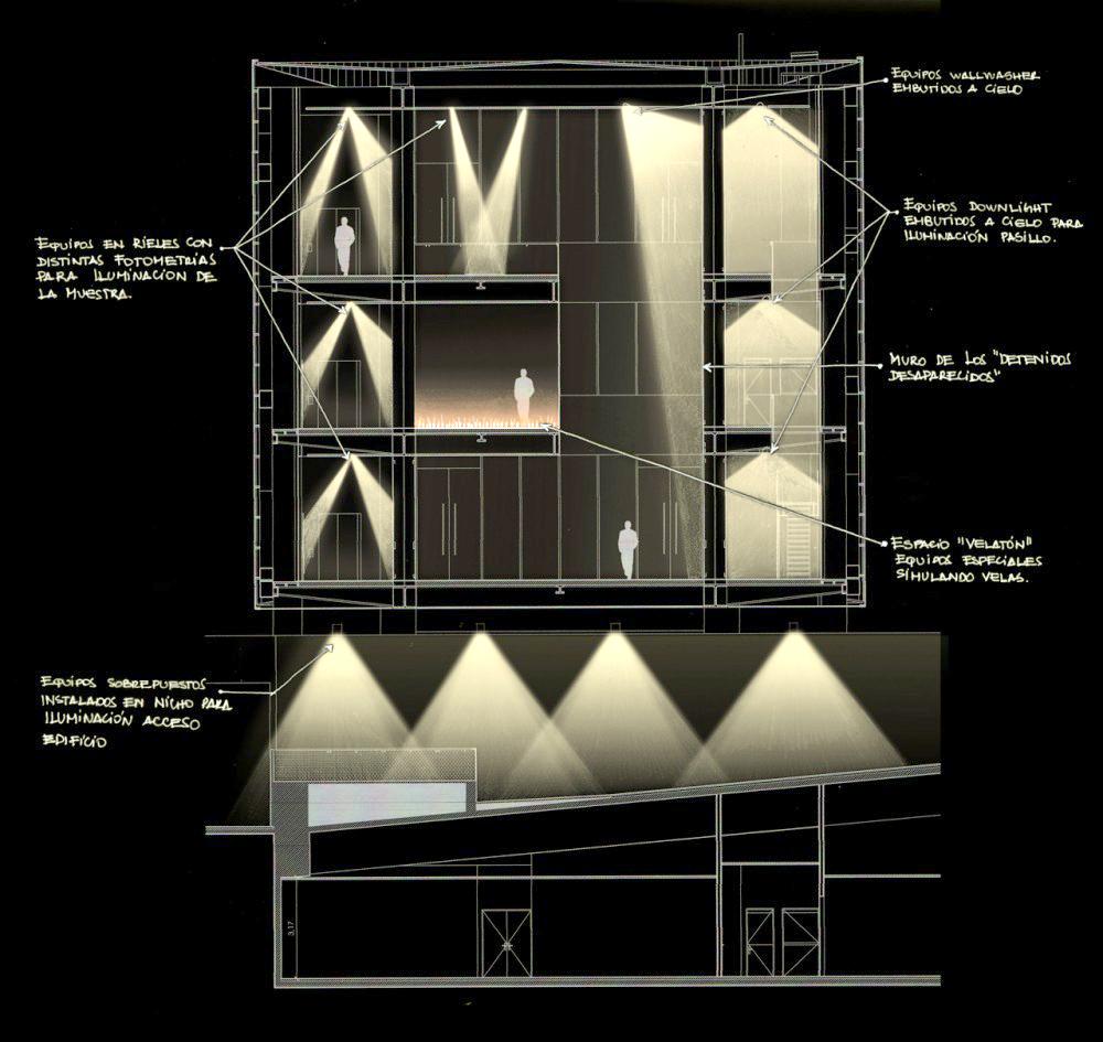 Materiales: Elección de la Luminaria para tu Proyecto, Proyecto de Iluminación: Museo de la Memoria / LLD-Limarí Lighting Design. Image Courtesy of LLD-Limarí Lighting Design