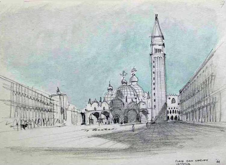 © Cortesía de Sanabria Arquitectos. Sketch de Venecia, Italia 1961