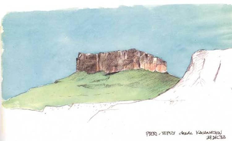 © Cortesía de Sanabria Arquitectos. Sketch en Kavanayen, Venezuela 1983