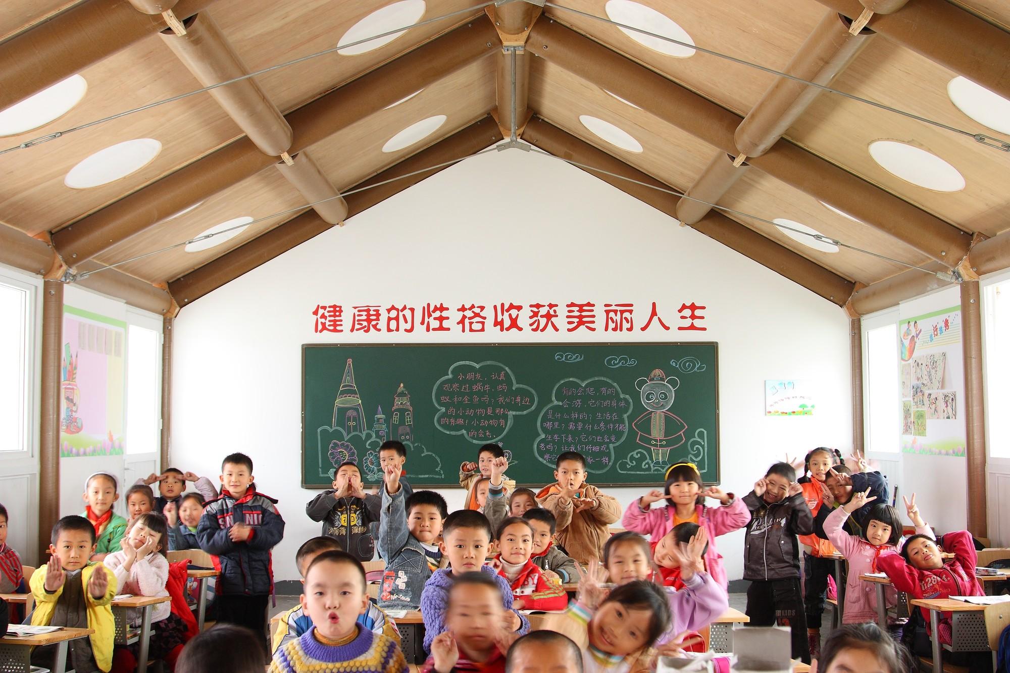 Escola Primária Temporária Hualin . Imagem © Li Jun