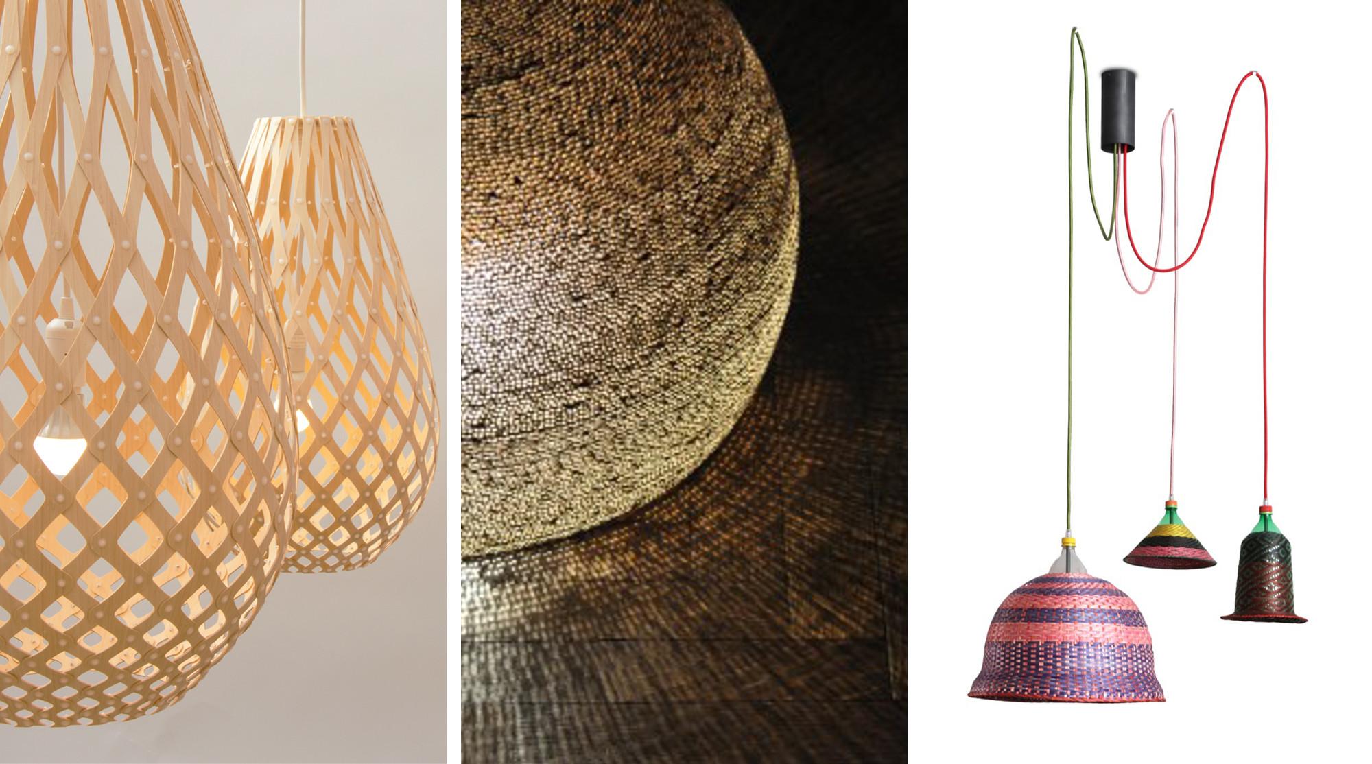 Iluminaci n l mparas con material reciclado plataforma - Lamparas de pie artesanales ...