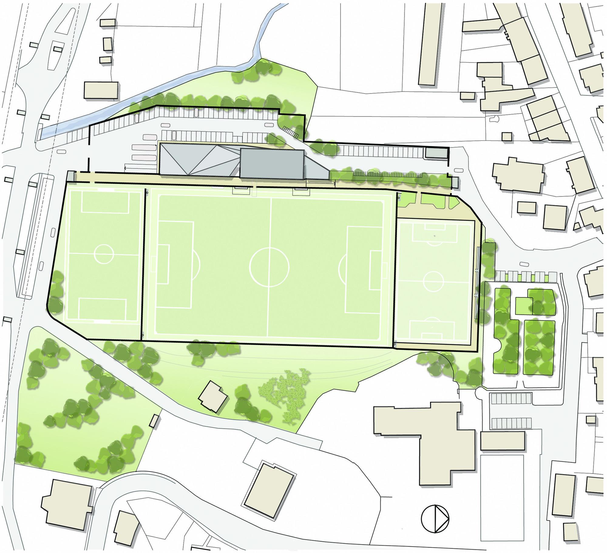 Ferdeghini sport complex frigerio design group archdaily for Sports complex planning design