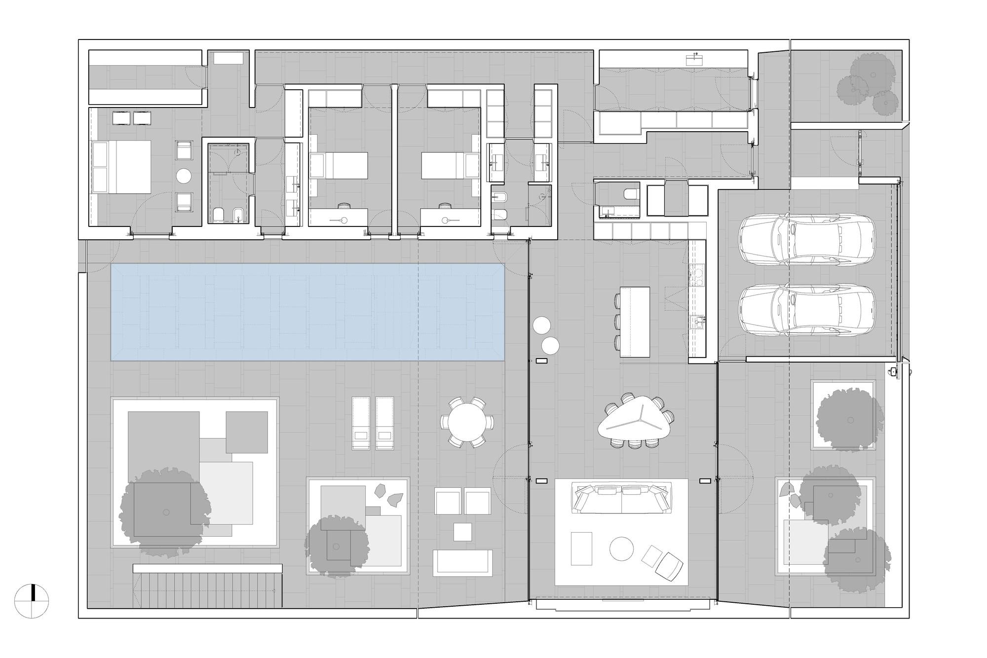 Gallery of jesolo lido pool villa jm architecture 21 for Plan architecture villa