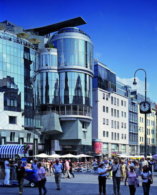 Haas Haus, Geschäftshaus, Wien, Österreich, 1985-1990. Image © Atelier Hans Hollein / Sina Baniahmad