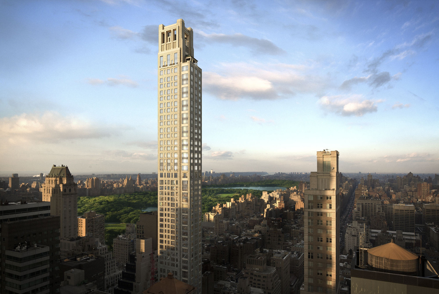 Robert A.M. Stern Tops NYC Tower with $100 Million Penthouse, © Zeckendorf Development LLC and Seventh Art; Courtesy of Curbed NY