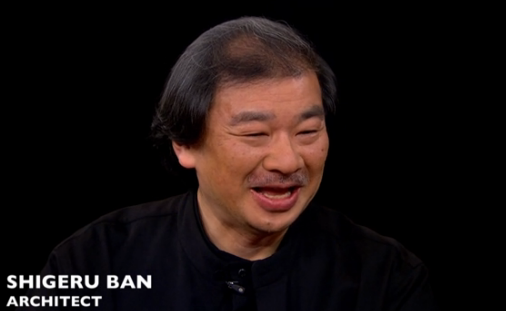 VIDEO: Charlie Rose Interviews Tom Pritzker and Shigeru Ban